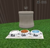 MP Kibble,Water,Milk bowls 3 way for kittycats Food Dispenser