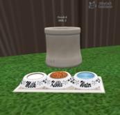 MP Kibble,Water,Milk bowls 3 way for Happy Tiers Food Dispenser