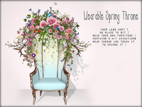 Boudoir-Wearable Spring Throne  ☀️