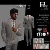 ROBERT2 SUIT- GREY multi ties - Aesthetic, Slink, Adam