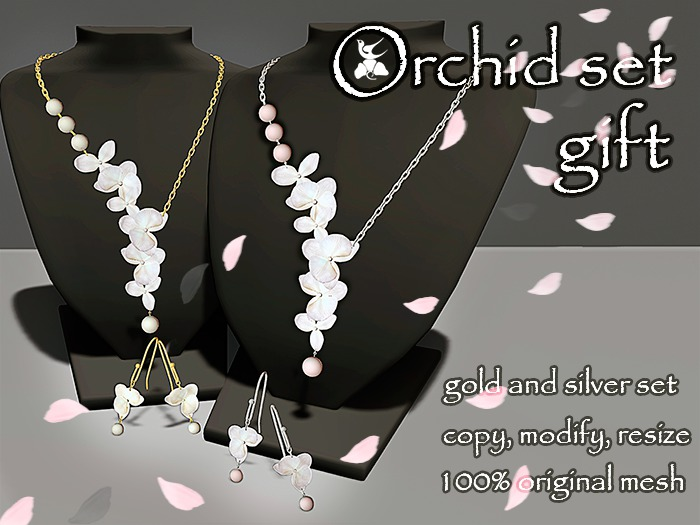 Orchid set of jewelry (gift)