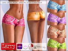 LARRY JEANS - 024 V-Cut Shorts - 6 Fun Color Pack