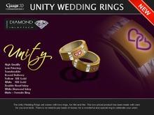 Gaagii -  Unity Wedding Rings (His & Her) - Gold -
