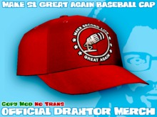 Draxtor Baseball Cap - Make SL Great Again