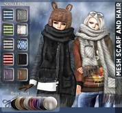 NS::  MESH  SCARF WITH HAIR (HUD)