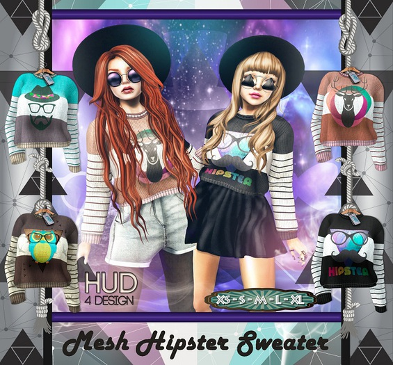 NS::  Mesh  Hipster Sweater (HUD)