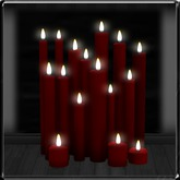 ~*LT*~ Cluster of Candles - Red