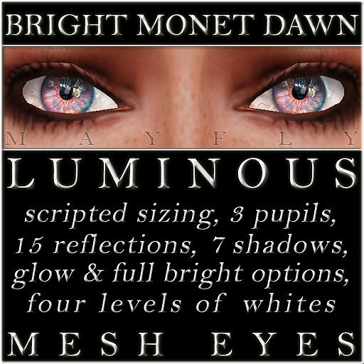 Mayfly - Luminous - Mesh Eyes (Bright Monet Dawn)
