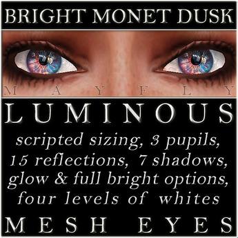 Mayfly - Luminous - Mesh Eyes (Bright Monet Dusk)