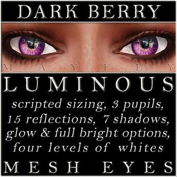 Mayfly - Luminous - Mesh Eyes (Dark Berry)