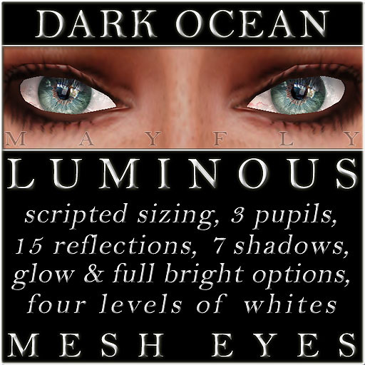 Mayfly - Luminous - Mesh Eyes (Dark Ocean)