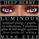 Mayfly - Luminous - Mesh Eyes (Deep Berry)