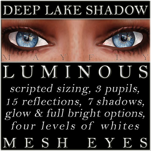 Mayfly - Luminous - Mesh Eyes (Deep Lake Shadow)
