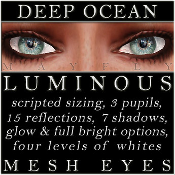 Mayfly - Luminous - Mesh Eyes (Deep Ocean)