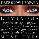 Mayfly - Luminous - Mesh Eyes (Deep Snow Leopard)