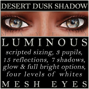 Mayfly - Luminous - Mesh Eyes (Desert Dusk Shadow)