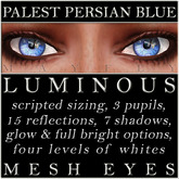 Mayfly - Luminous - Mesh Eyes (Palest Persian Blue)