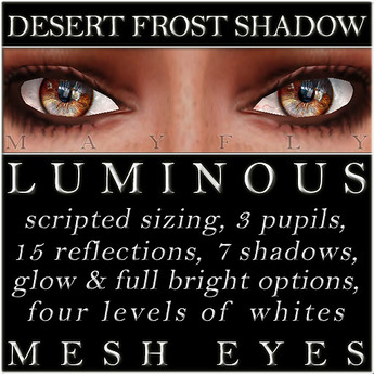 Mayfly - Luminous - Mesh Eyes (Desert Frost Shadow)