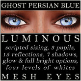 Mayfly - Luminous - Mesh Eyes (Ghost Persian Blue)