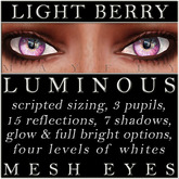 Mayfly - Luminous - Mesh Eyes (Light Berry)