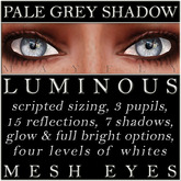 Mayfly - Luminous - Mesh Eyes (Pale Grey Shadow)
