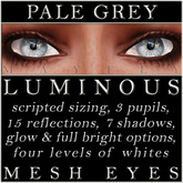 Mayfly - Luminous - Mesh Eyes (Pale Grey)