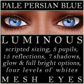 Mayfly - Luminous - Mesh Eyes (Pale Persian Blue)