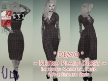 {JD} Retro Plaid Dress DEMO
