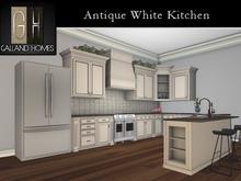 ***Antique White Kitchen by Galland Homes - Mesh Kitchen