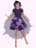 Purple Polyester Dress