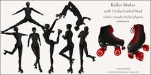 AvaGirl - Roller Girl - Roller Skates with Tricks Control Hud Black/Red