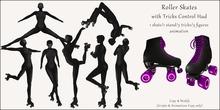 AvaGirl - Roller Girl - Roller Skates with Tricks Control Hud Black/Purple