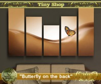 "Picture modular""Butterfly on the back""(full perm)."