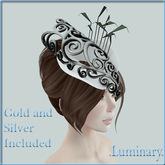 .Luminary. Ascot Hat - White