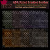 ADA Seamless Studded Scale Leather DARK