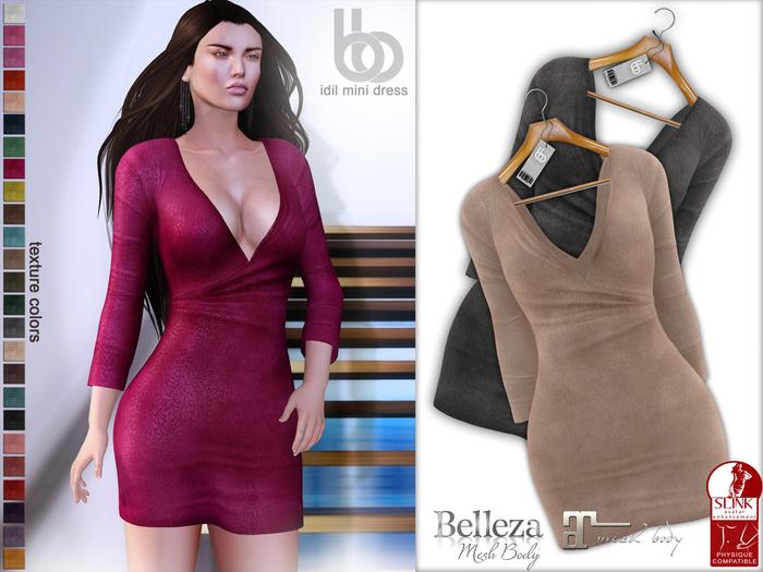 Bens Boutique - Idil Mini Suede Dress