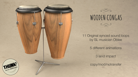 Thunk! Wooden Congas