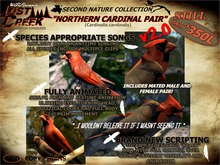 Lost Creek Songbird Northern Cardinal v2 Full Set