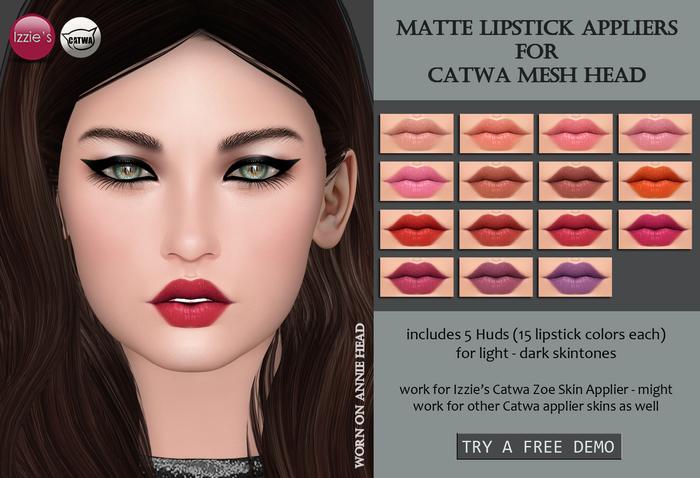 Izzie's - CATWA Matte Lipstick Appliers (Zoe)
