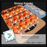 F&B Jumbo Shrimp Skewers Platter