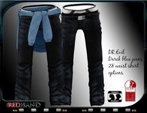 (red)sand  DR.evil jeans /Darck blue