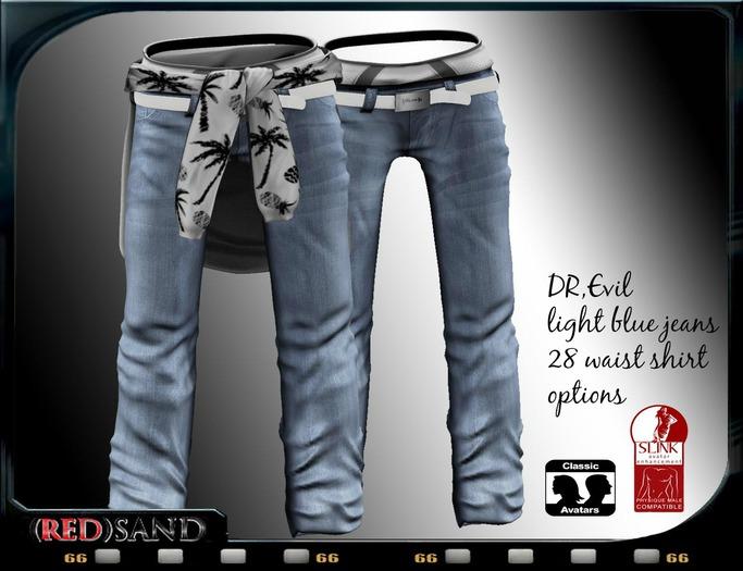 (red)sand  DR.evil jeans / light blue