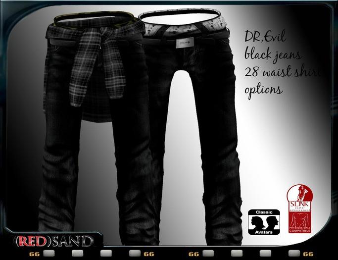 (red)sand DR.evil jeans /Black