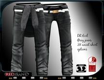 (red)sand  DR.evil jeans / grey