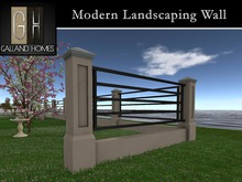 Modern Landscaping Wall by Galland Homes