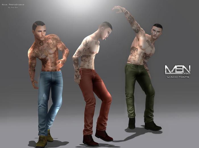 DISCOUNT %40 [MSN Design] Waco Pants [FATPACK]