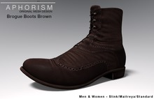 !APHORISM! Brogue Boots Brown
