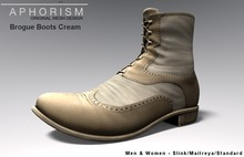 !APHORISM! Brogue Boots Cream