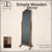 [DDD] Simple Wooden Standing Mirror