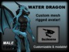 Water Dragon - Blue 0.9